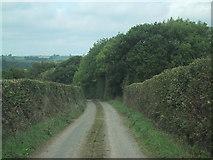 SS7509 : Minor road drops to Broadridge Farm by Sarah Charlesworth