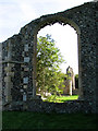 TM4874 : St Andrew's church in Walberswick - north aisle west window by Evelyn Simak