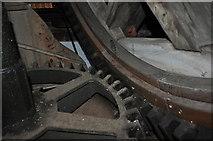 TF7632 : Great Bircham Windmill - Brake Wheel and Wallower by Ashley Dace