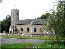 TG1807 : St Andrew's church in Colney by Evelyn Simak