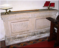 TG1807 : St Andrew's church in Colney - C16 table tomb by Evelyn Simak