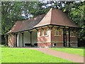 NZ2567 : Shelter, Jesmond Dene Recreation Ground by Andrew Curtis