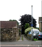 SK8508 : Footpath to Cheviot Close by Andrew Tatlow