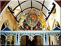 SU1084 : View west inside St Mary's Church, Lydiard Tregoze, Swindon by Brian Robert Marshall
