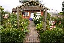 SJ7243 : Cottage garden at Bridgemere Gardens by Steve Daniels