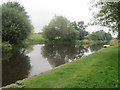 SJ3426 : Canal Boat turning area by John Firth