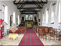 TM5286 : St Edmund's church in Kessingland - view east by Evelyn Simak