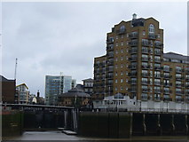 TQ3680 : Apartment Block at Limehouse Marina by Colin Smith