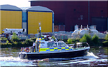 NS5566 : Police boat on the Clyde by Thomas Nugent