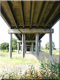 TM4599 : The underside of Haddiscoe Bridge by Glen Denny