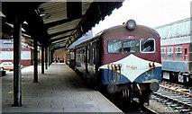 J3475 : DE railcars, Belfast York Road by Albert Bridge