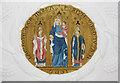 SU6604 : St Philip, Cosham, Portsmouth - Painting on gallery by John Salmon
