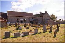 TG3433 : Graveyard, Bacton, Norfolk by Christine Matthews