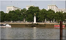 TQ3080 : View across the Thames to Whitehall Steps and The Royal Air Force Memorial by N Chadwick
