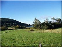 NM9247 : Looking across the fields to Loch Laich at Portnacroish by Elliott Simpson