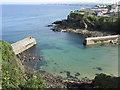 SW9980 : Port Isaac Harbour entrance by Derek Voller