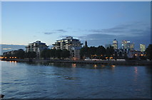 TQ3778 : Flats on the Isle of Dogs by Ashley Dace