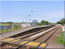 TM4598 : Norwich bound platform at Haddiscoe station by Glen Denny