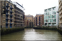 TQ3379 : St.Saviour's Dock, Bermondsey, London by Peter Trimming