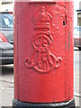 NZ2164 : Edward VII postbox, Adelaide Terrace, Benwell, NE4 - royal cipher by Mike Quinn