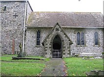 SU8518 : Stone porch on St Mary's Church Bepton by Dave Spicer