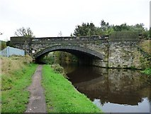 SE2320 : Railway bridge across the Calder and Hebble Navigation by Christine Johnstone