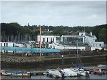 SZ3394 : Lymington Town Sailing Club building by David Smith