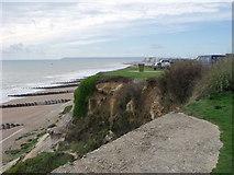 TQ7507 : Cliffs at Galley Hill, Bexhill by nick macneill