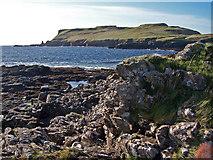 NG3235 : Oronsay's rocky shore by Richard Dorrell