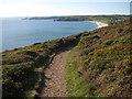 SW5827 : Coast path near Rinsey Head by Philip Halling