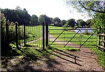 SJ8959 : Gates to the Fishpool field by Jonathan Kington