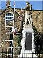 NZ1665 : Restoration work, Newburn War Memorial by Andrew Curtis