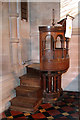 TF6923 : All Saints' church in Roydon - the pulpit by Evelyn Simak
