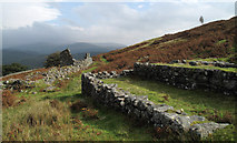 SH7123 : Ruined buildings at Cefn Coch Mine by Trevor Littlewood