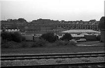 SU5290 : Didcot Town's former Station Road ground from the train by Steve Daniels
