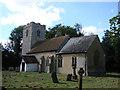 TM0248 : Naughton St Mary's church by Adrian S Pye