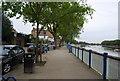 TQ2375 : Thames Path along Putney Embankment by N Chadwick