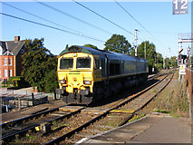 TM1543 : Locomotive entering the Freightliner stabling point at Ipswich station by Glen Denny