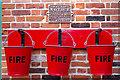 TG0939 : Fire Buckets, Holt Station, Norfolk by Christine Matthews