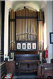 TF6415 : All Saints' church in North Runcton - the organ by Evelyn Simak
