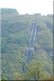 SH6539 : Maentwrog Power Station Pipelines, Gwynedd by Peter Trimming