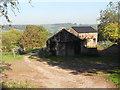 SO4419 : Farm buildings beside the Three Castles Walk by Row17