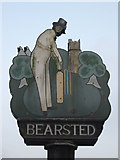 TQ8055 : Close-up of Bearsted Village Sign by David Anstiss