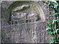 TG2408 : Rosary cemetery, Norwich - gravestone detail by Evelyn Simak