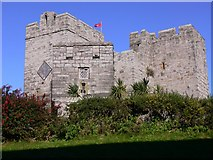 SC2667 : Castle with clock and flag at Castletown by Shazz