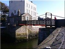SC2667 : Swing bridge at Castletown harbour by Shazz