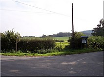 SD5013 : Public footpath sign on Bentley Lane by Raymond Knapman