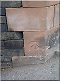NY3704 : Ambleside, Vicarage Road cut bench mark by Brian Westlake