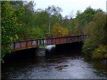 NS5666 : Disused railway bridge by Thomas Nugent