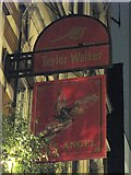 TQ3282 : Sign for The Angel, City Road, EC1 by Mike Quinn